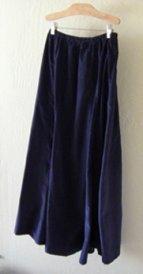 Navy 10 Gore Fine Wale Cotton Corduroy Skirt!