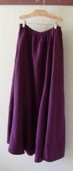 Claret Tencel Skirt