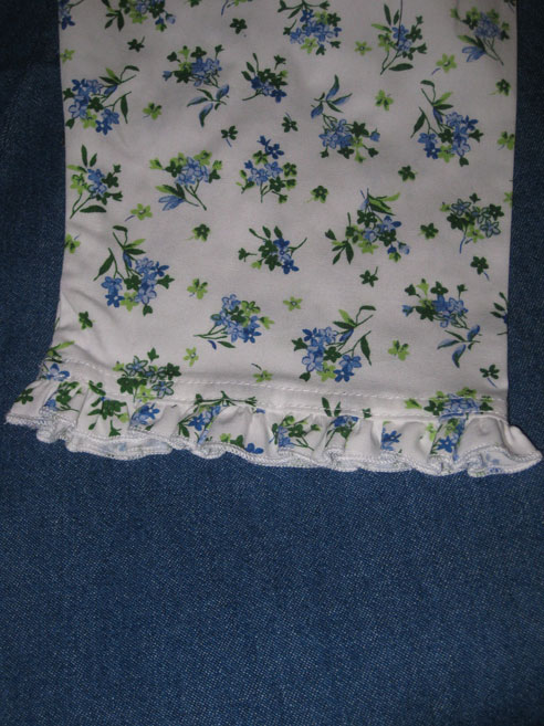 Ruffle at the end of the sleeve!