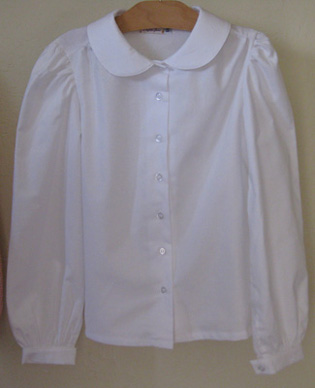 Young ladies' modest blouse in White!