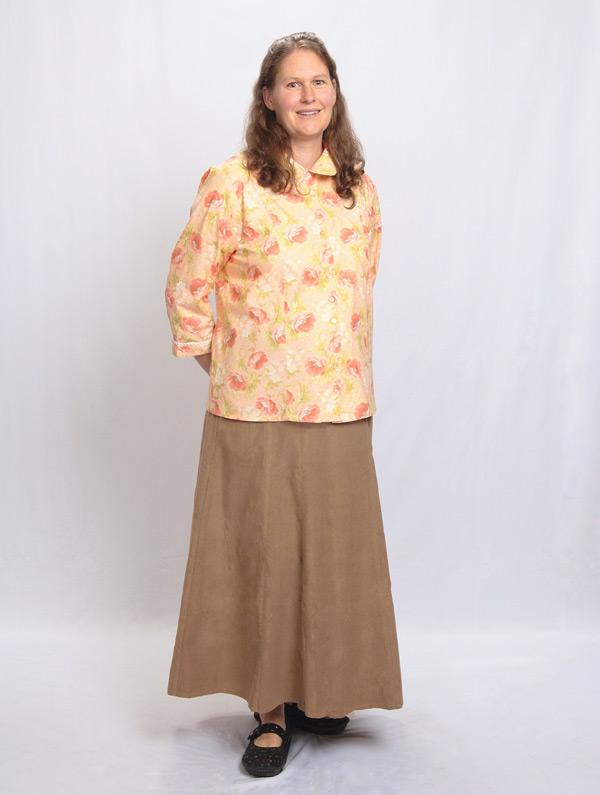 Camel Corduroy Skirts