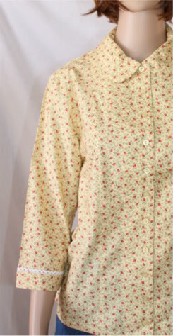 Charlevoix Yellow Modest Blouse