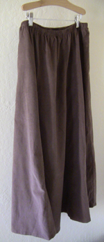 Hazelnut 10 Gore Fine Wale Cotton Corduroy Skirt!