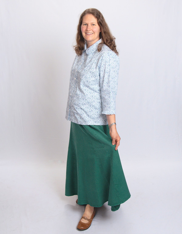 Tencel® Skirt shown in Hunter Green