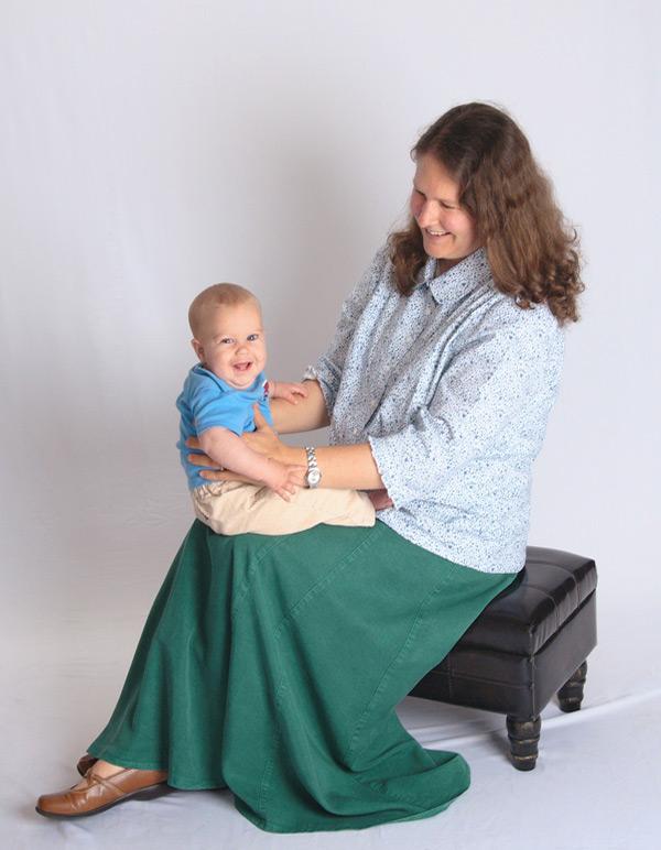 Hunter Green Tencel® long skirts for women