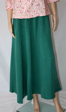 Hunter Green Tencel Skirt