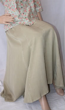 Olive Tencel Skirt