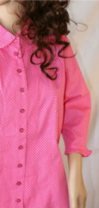 Pink Dots Modest Blouse