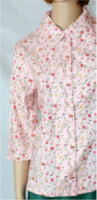 Pink Floral Modest Blouse