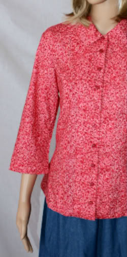 Pink Petals Modest Blouse