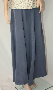 Smokey Blue Tencel Skirt