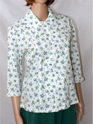 Spring Bouquet Modest Blouse