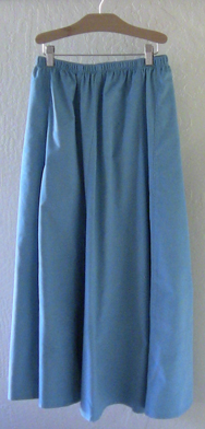 Modest skirt with pockets in Turquoise Corduroy