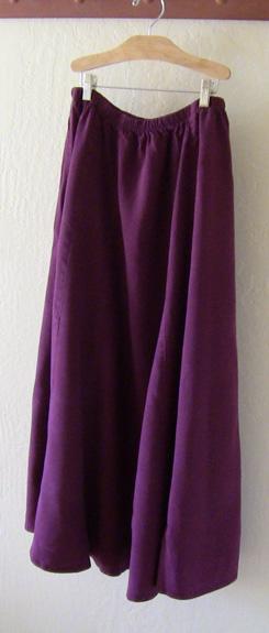 Claret Tencel Skirt