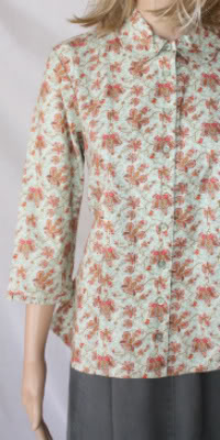 Butterfly Garden Modest Blouse
