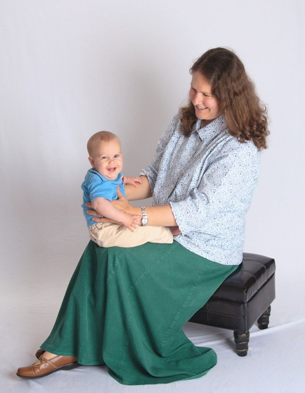Hunter Green Tencel® long skirts for women