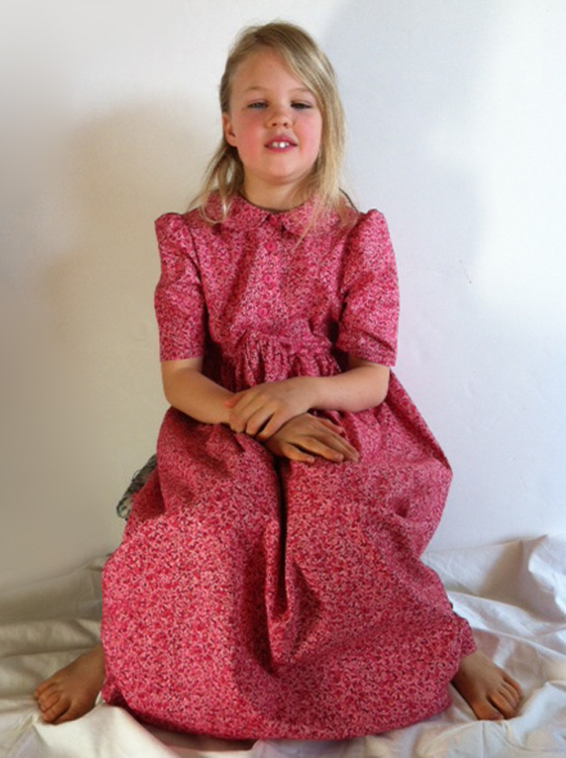Summer Dress girls will love in pink petals print.
